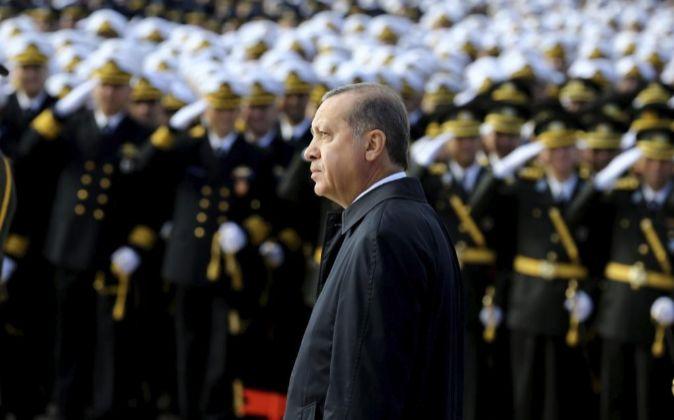 Recep Tayyip Erdogan durante las celebraciones del Día de la...