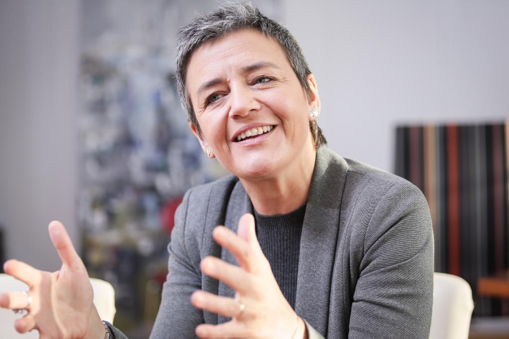 Bruselas. 09/12/14. Entrevista y retrato de la Comisaria Europea de...
