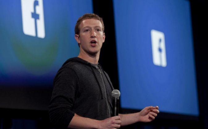 Mark Zuckerberg, durante un evento en la sede de su compañía en...