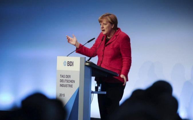 La canciller alemana, Angela Merkel, el miércoles pasado en Berlín.