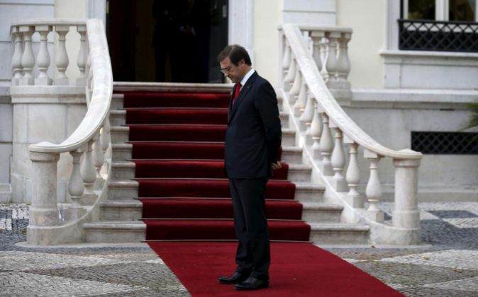 El primer ministro Passos Coelho, en el Palacio Sao Bento