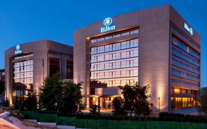 Hotel de la cadena Hilton en Madrid.