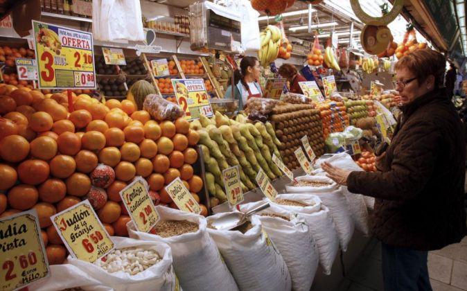 Mercado madrileño.
