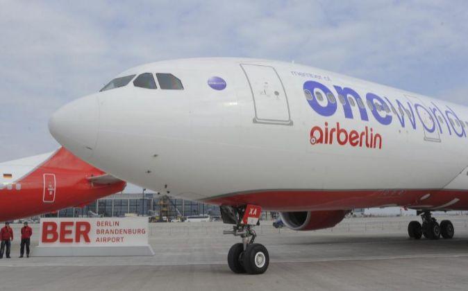 Un avión de la compañia Airberlin.