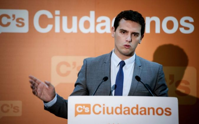 El candidato de Ciudadanos a la Presidencia del Gobierno Albert...
