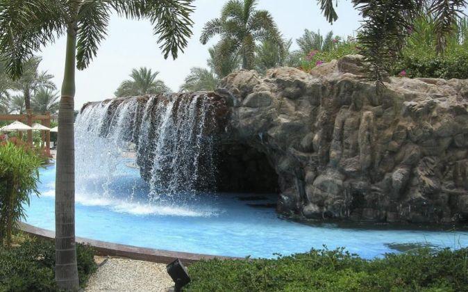 Piscina construida por Fluidra en Abu Dhabi