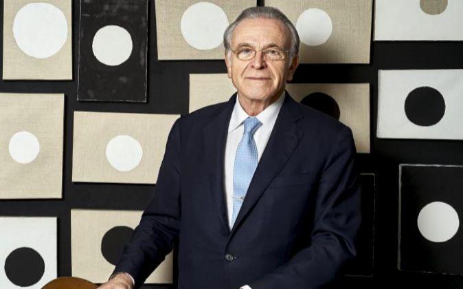 Isidro Fainé en la sede de la Caixa de Madrid.