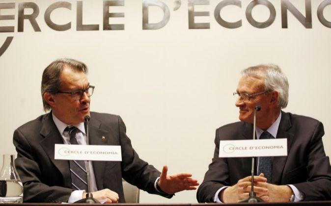 Artur Mas y el presidente del Círculo de Economía, Antón Costas