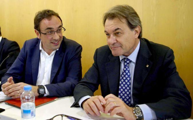 Josep Rull y Artur Mas.