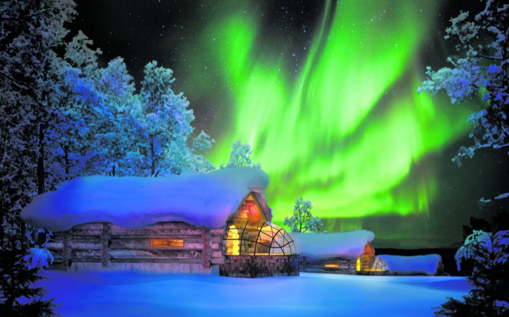 El complejo hotelero de Laponia finlandesa Kakslauttanen Artic Resort...