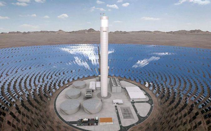 Planta fotovoltaica en Atacama (Chile).