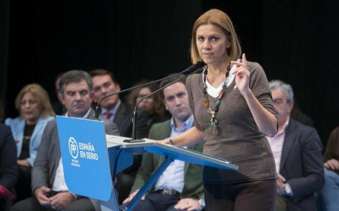 La secretaria general del Partido Popular, María Dolores de Cospedal