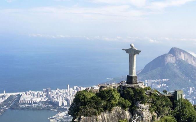 En la imagen, el Cristo Redentor del cerro del Corcovado en Río de...