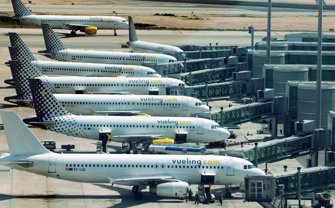 Aviones de Vueling en el aeropuerto de El Prat