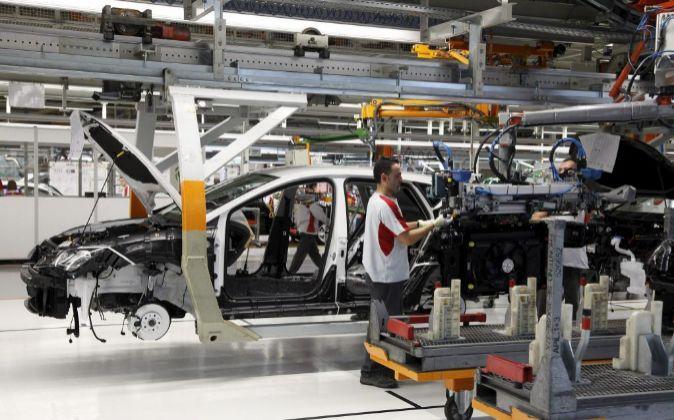 Cadena de montaje de la fábrica de Seat en Martorell (Barcelona).