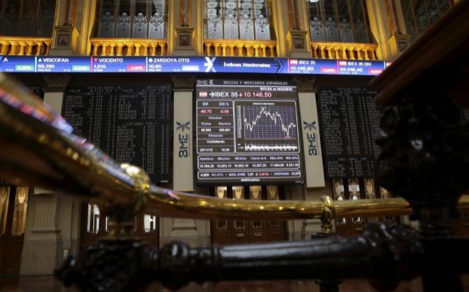 Monitor informativo de la Bolsa de Madrid.
