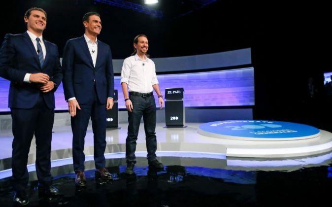 Los candidatos a la Presidencia del Gobierno de Ciudadanos, Albert...