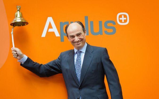 El consejero delegado de la compañía, Fernando Basabé, durante la...