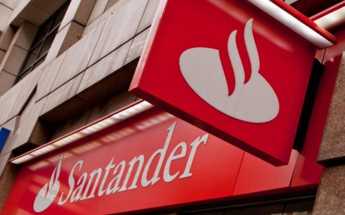 Logotipo del Banco Santander.