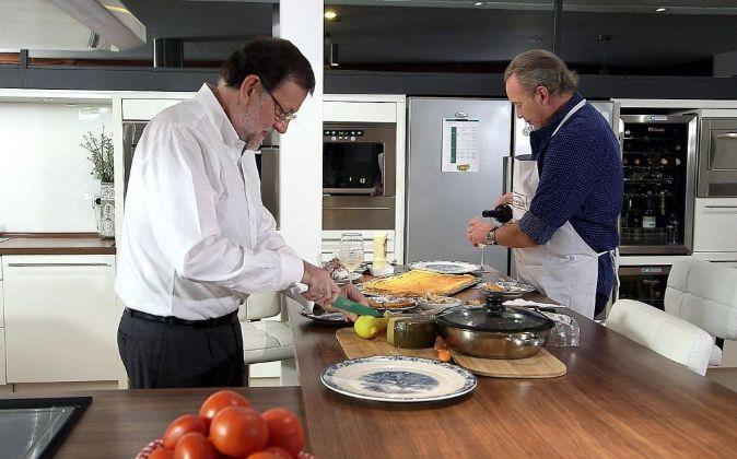 """Mariano Rajoy, en el programa de la 1 """"En la tuya o en la..."""