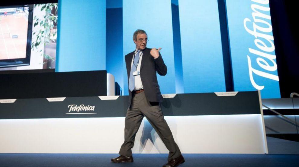 Junta de accionistas de Telefónica 2015, César Alierta