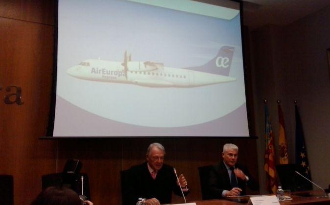 Álvaro Middelmann, de Globalia, y Toni Gimeno, director general de...