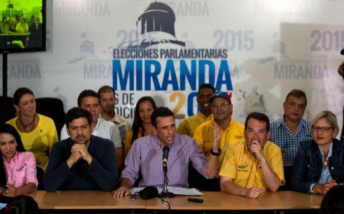 El líder opositor venezolano, excandidato presidencial y gobernador...