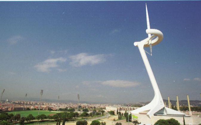 Torre de telefonía de Telefónica en Montjuic, diseñada por Santiago...
