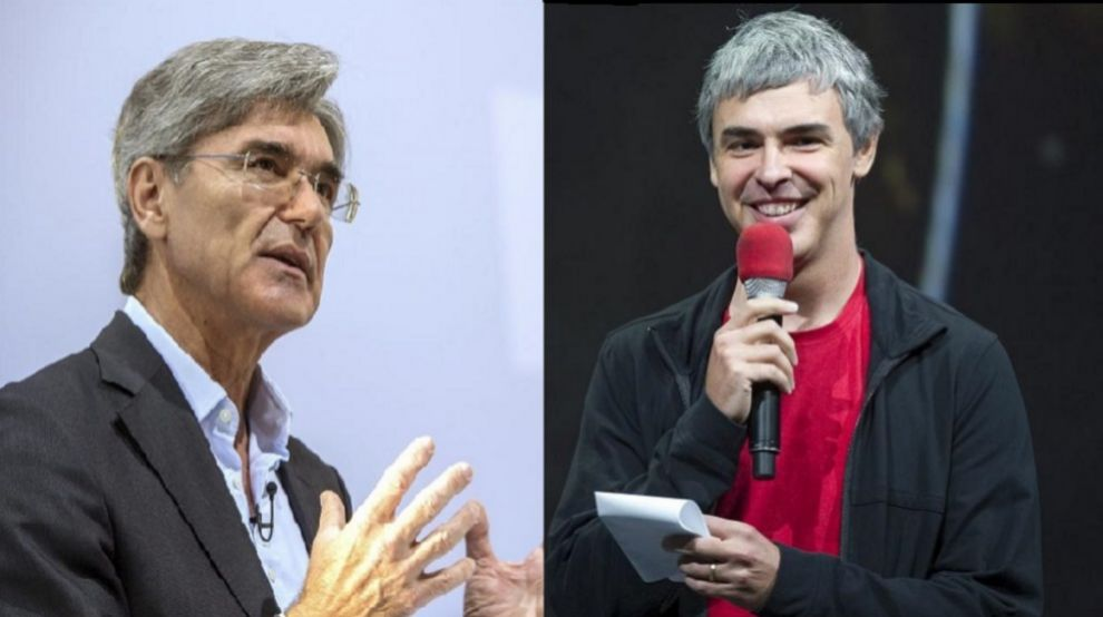 Joe Kaeser, CEO de Siemens, y Larry Page, CEO de Alphabet.