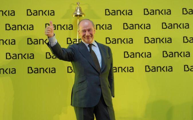 Salida a Bolsa de Bankia en la Bolsa de Madrid, con su presidente...