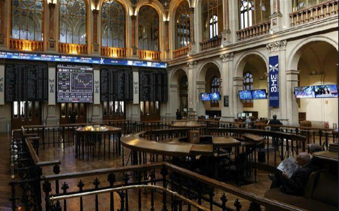 Interior de la Bolsa de Madrid