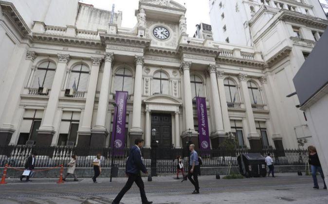 Imagen de la sede del Banco Central de Argentina, en Buenos Aires
