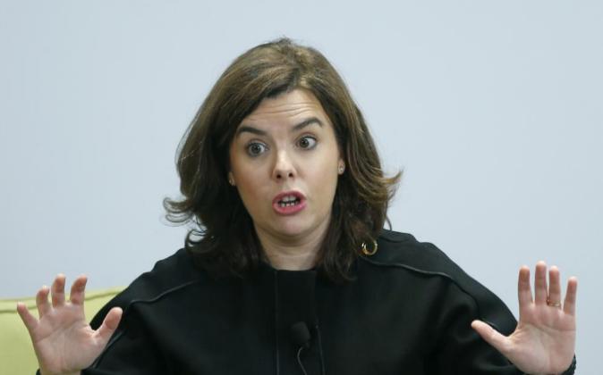 La vicepresidenta del Gobierno.