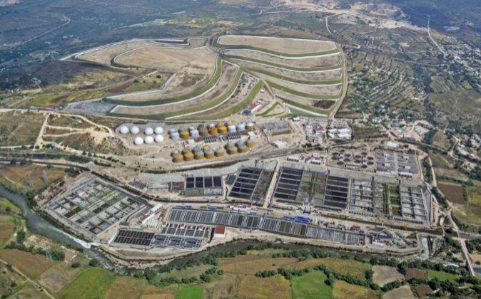 Vista general de la planta depuradora que Acciona pondrá en marcha en...