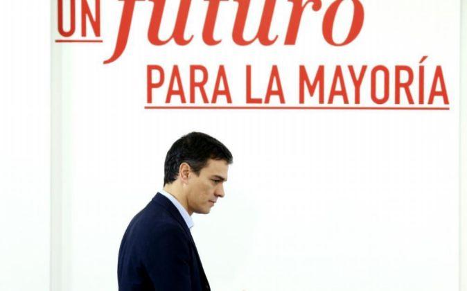 El secretario general del PSOE y candidato a presidente del Gobierno,...