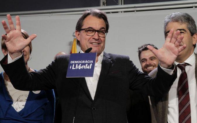 El presidente de la Generalitat en funciones, Artur Mas, en la noche...