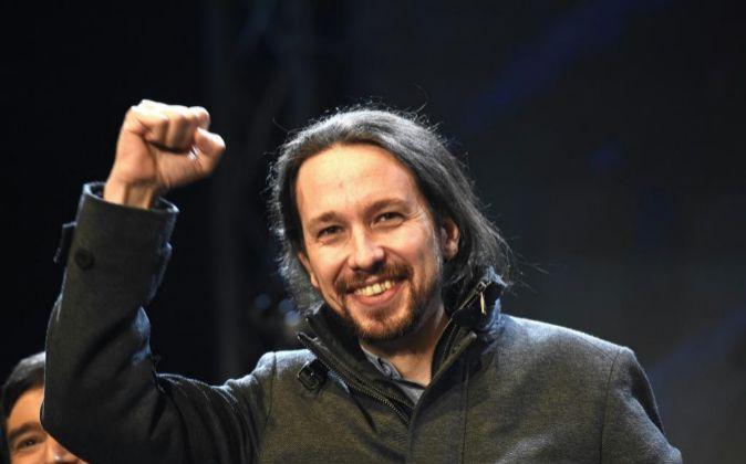El candidato a la Presidencia del Gobierno por Podemos, Pablo...