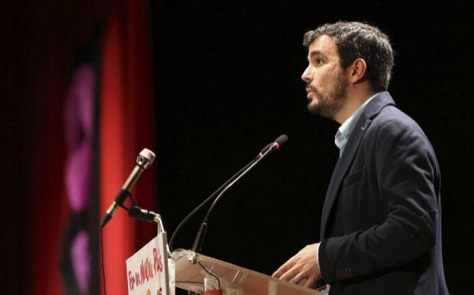 El líder de IU Alberto Garzón.