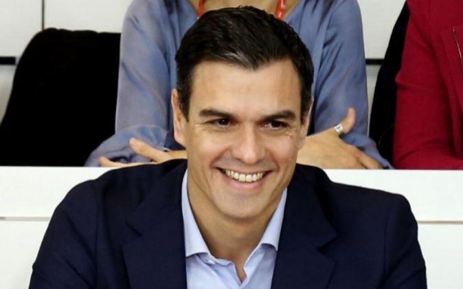 El secretario general, Pedro Sánchez, en la reunión del Comité...