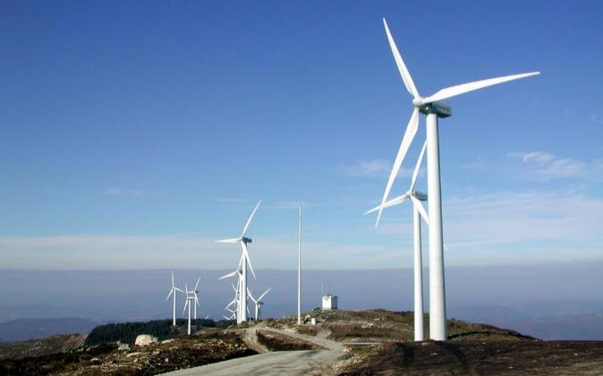 Parque eólico de Iberdrola en la provincia de Ourense.