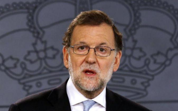 Mariano Rajoy, durante la rueda de prensa tras el Consejo de Ministros
