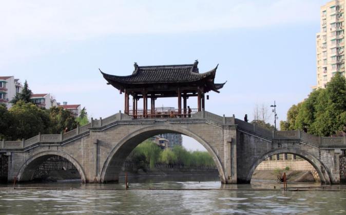 Imagen del Gran Canal de Pekín Hangzhou.
