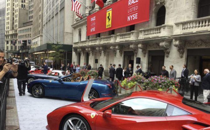 Salida de Ferrari a Bolsa en Nueva York.