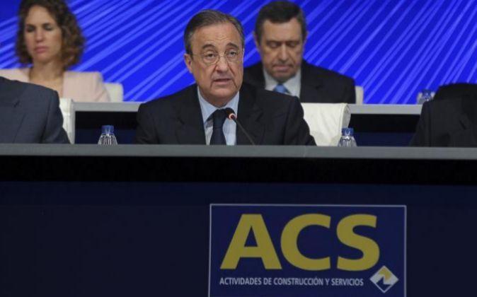 Florentino Perez, presidente de ACS