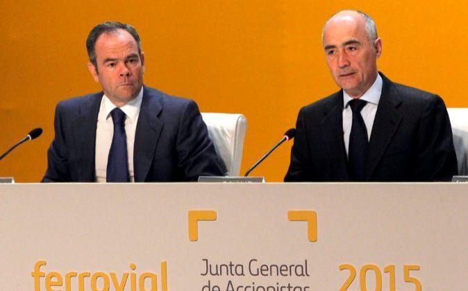 Íñigo Meirás y Rafael del Pino, en la Junta General de Accionistas...