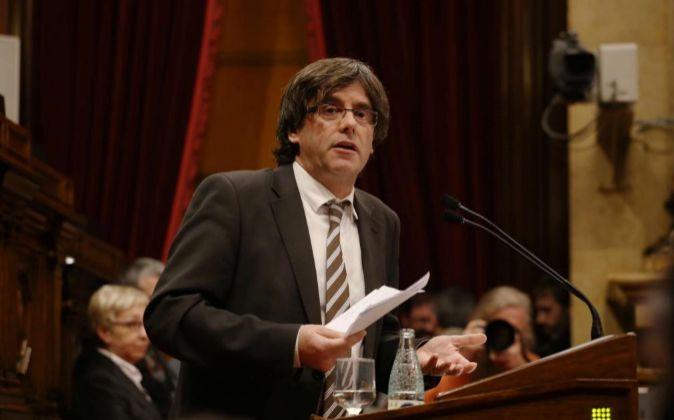 Pleno del Parlament nuevo president de la Generalitat Carles...