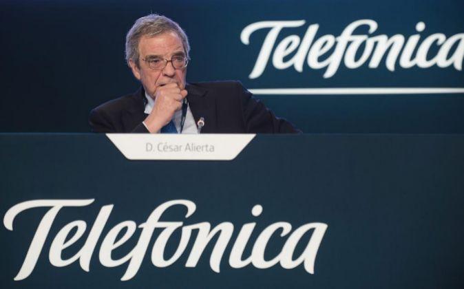 Junta de accionistas de Telefónica 2015, César Alierta.