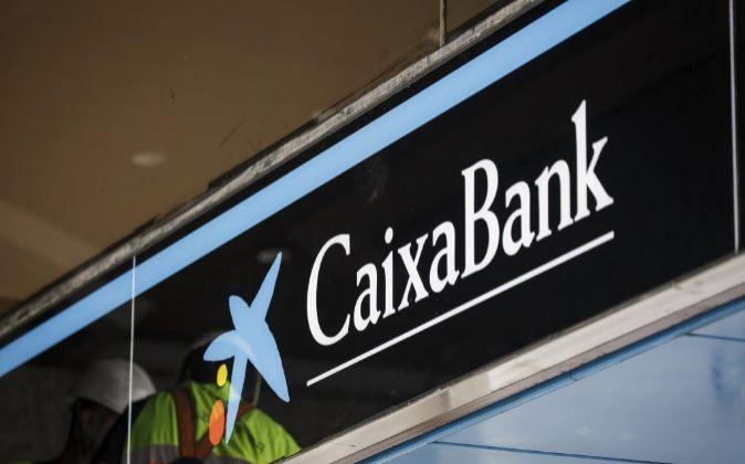 Logo de CaixaBank.