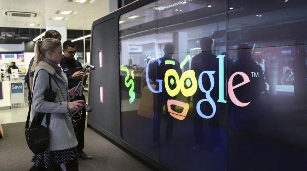 Tienda Google Shop de Londres.