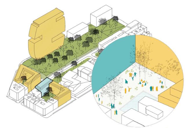 Un 3D del proyecto presentado en su día por la Cooperativa...